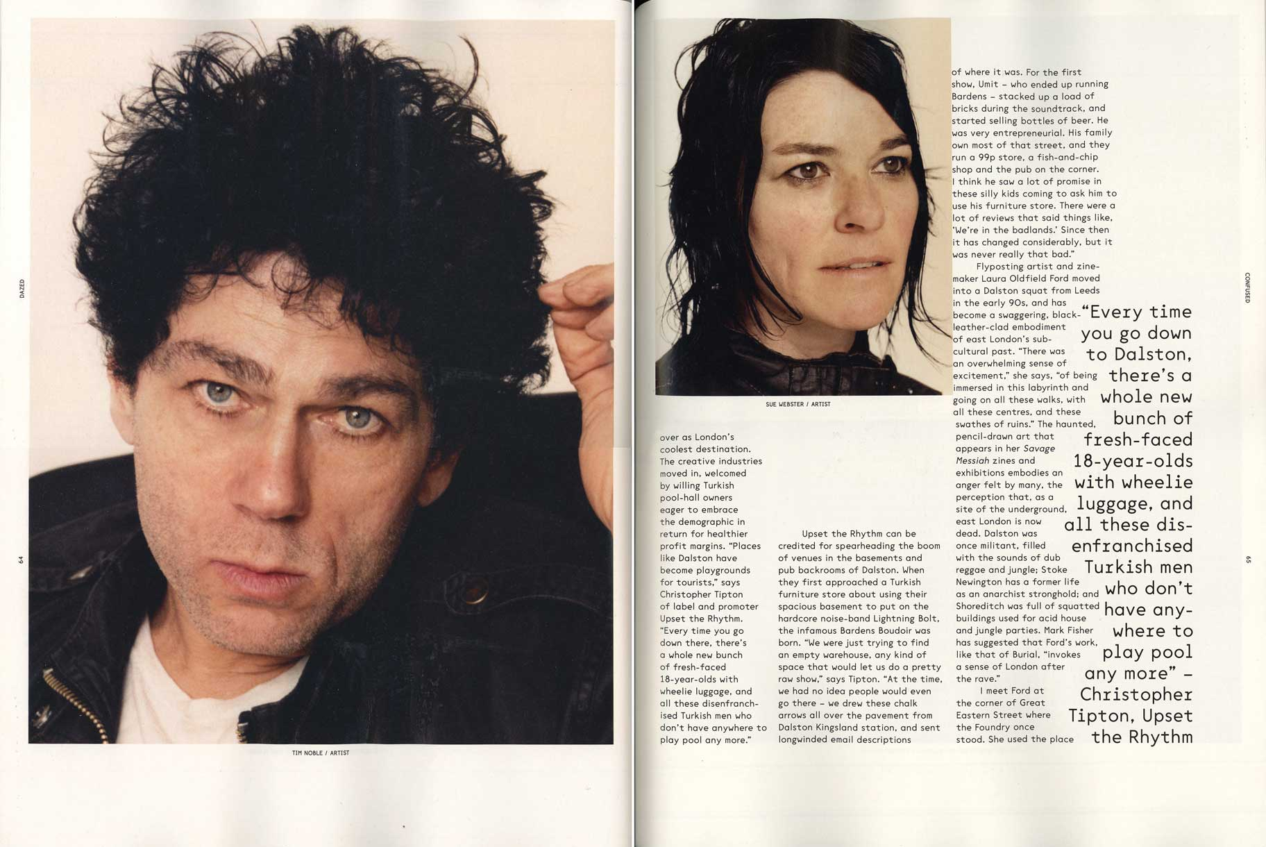 Dazed & Confused Magazine, May 2012 pgs 64-65
