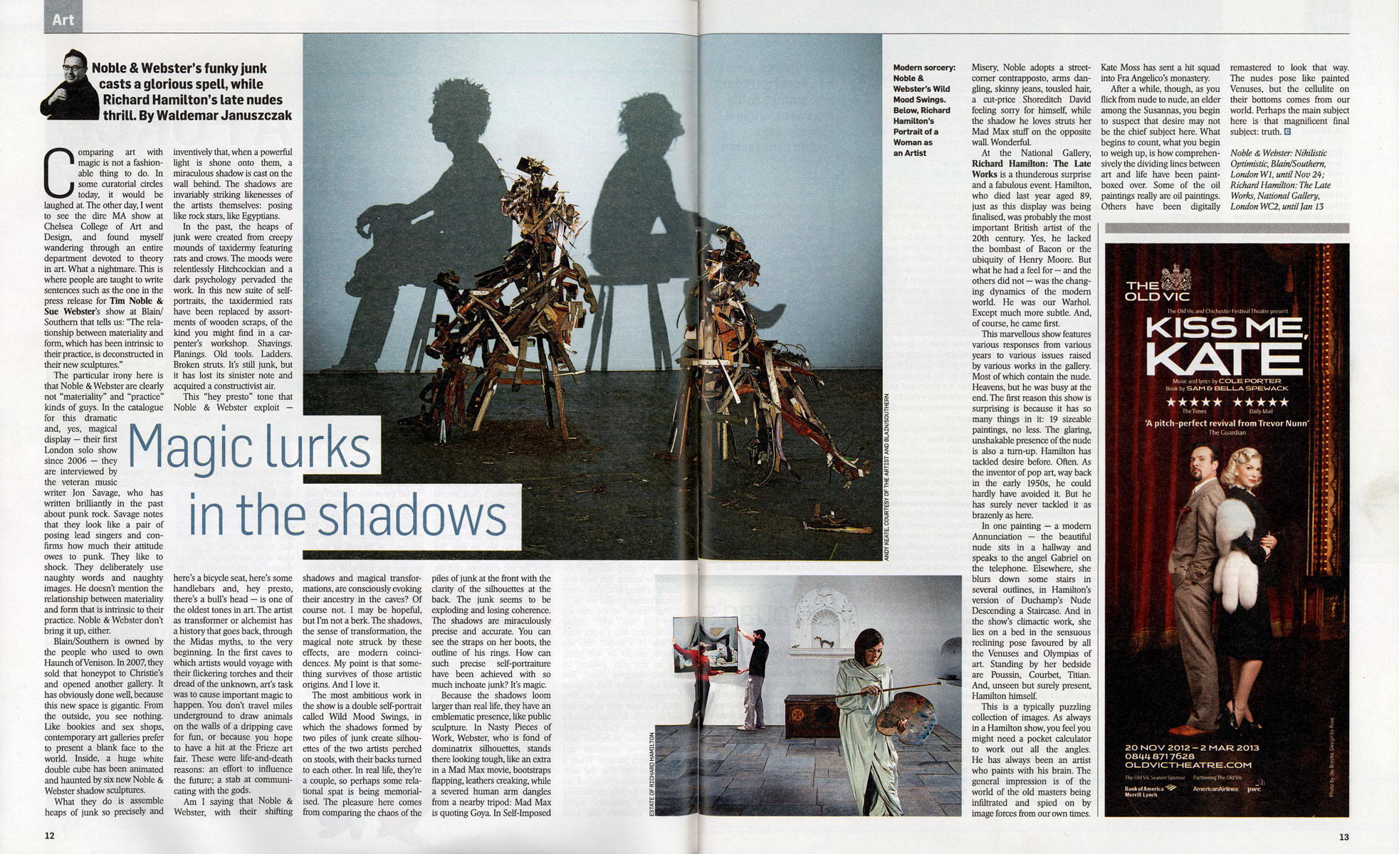 Sunday Times Culture Mag, Oct 2012 pgs 12-13