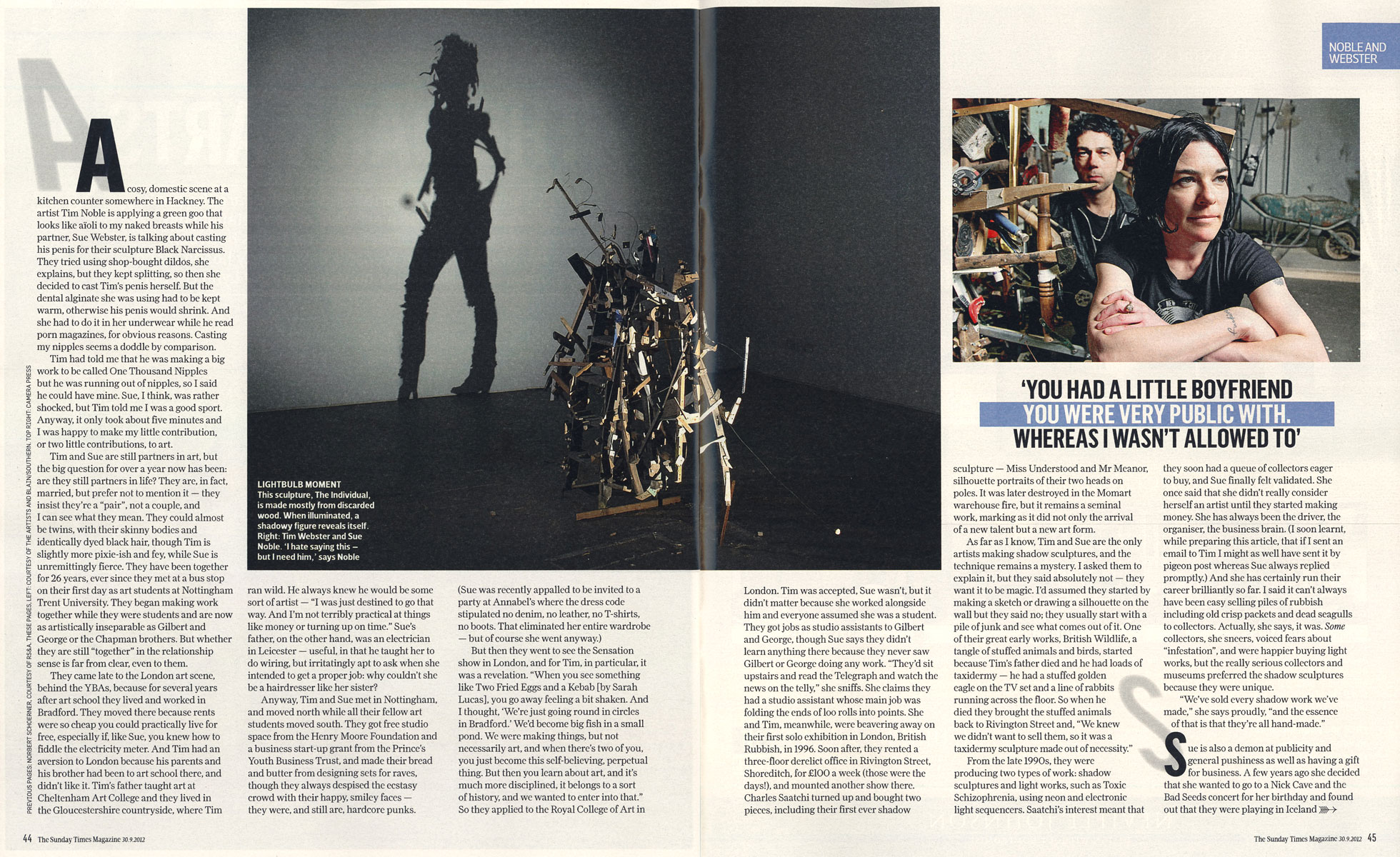 Sunday Times Magazine pgs 44-45