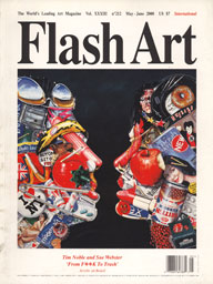 Flash Art, 2000 magazine cover